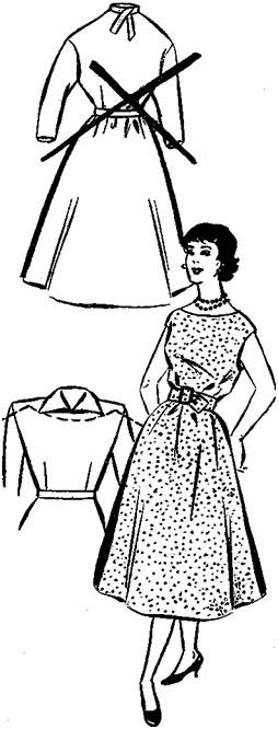 Преобразованное платье