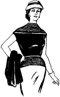 Вязание кофточки с цельновязанным коротким рукавом